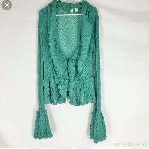 Anthropologie Moth Crochet Sweater